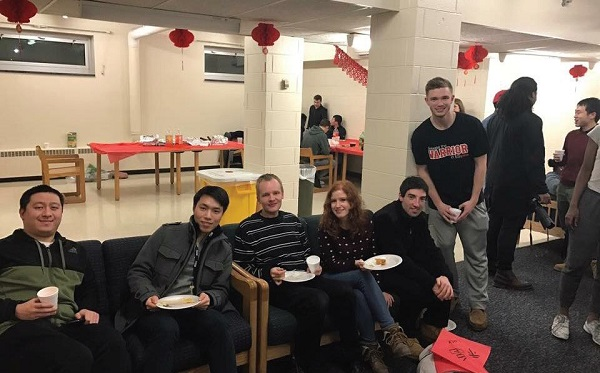 Students enjoy the Chinese New Year celebration. Photo Courtesy / Mengchen Wang