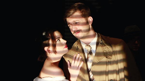 Abigail Witt (left) and John Lauri (right) play Annabella Schmidt and Richard Hannay in 'The 39 Steps.' Photo Courtesy / ESU Press Release / Rita Plotnicki