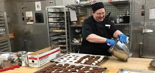 Whoopie pies being prepared by baker Debbie Seip in Dansbury Commons. Photo Courtesy / Peggy Diaco