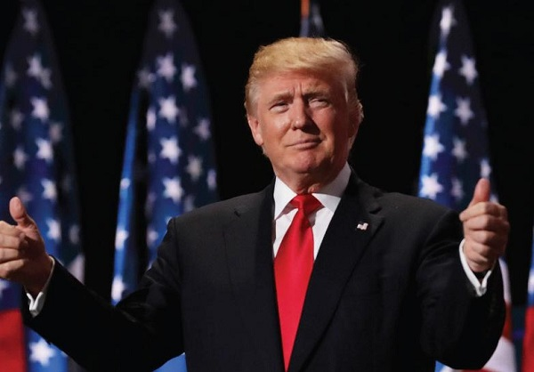 U.S. President Donald Trump at a speech. Photo Courtesy / Flickr