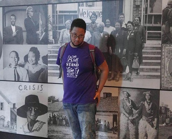 Glenn Williams, sophomore, visiting the Smithsonian Natural Museum of African American History and Culture. Photo Credit / Glenn Williams