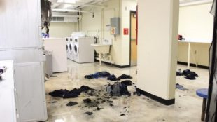 The laundry room in Laurel Hall after the fire Photo Courtesy / Jacqueline Herbert