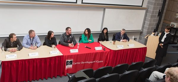 This was the panel discussion from the first S.C.O.R.E. Symposium in 2015. Photo Credit / ESU