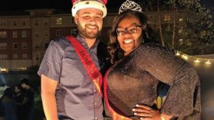 Photo Courtesy / ESU Student Senate Instagram Darian Cruz and Ashlyn Jackson were crowned Homecoming royalty.