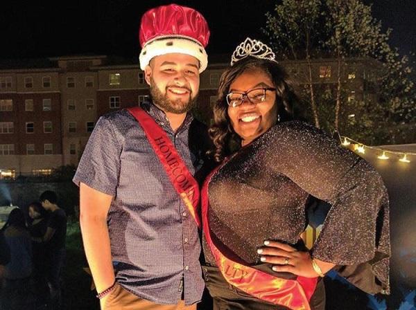 Photo Courtesy / ESU Student Senate Instagram Darian Cruz and Ashlyn Jackson were crowned Homecoming royalty.