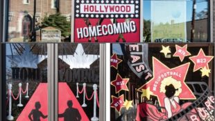 Photo Courtesy / ESU Flickr Many of the illustrations matched this year's Hollywood Homecoming theme.