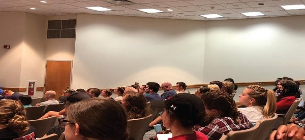 Photo Credit / Lauren Hernandez Beers Lecture Hall was filled to capacity for this colloquium.