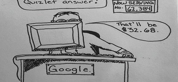 Cartoon by Chelsea Bacon