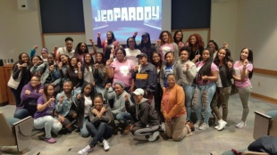 Photo Credit / Charlese Freeman Black Jeopardy brought together plenty of people to participate and have fun in NCNW's attempts at bringing attention to black culture.