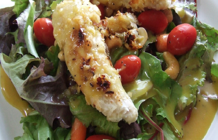Licensed by Creative Commons Gluten free Coconut Chicken Salad is a great  Vegan meal to include in a 22 Day Vegan Challenge. b205fe8748f